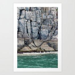 Rock Lines Art Print