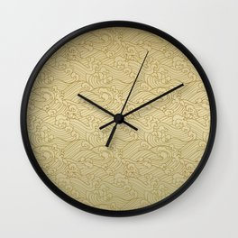 Golden Waves in Golden Wall Clock