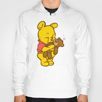 pooh Hoodies featuring Pooh And Teddy by Artistic Dyslexia