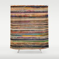 vinyl Shower Curtains featuring Vinyl by elle moss
