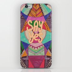 SAY YES Abstract 90's rave pattern iPhone & iPod Skin
