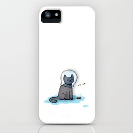 Jellybean and the fish bowl iPhone Case