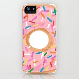 Pink Glaze Doughnut iPhone Case
