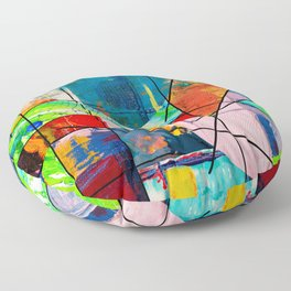 Escape Reality - Abstract Expressionism Floor Pillow