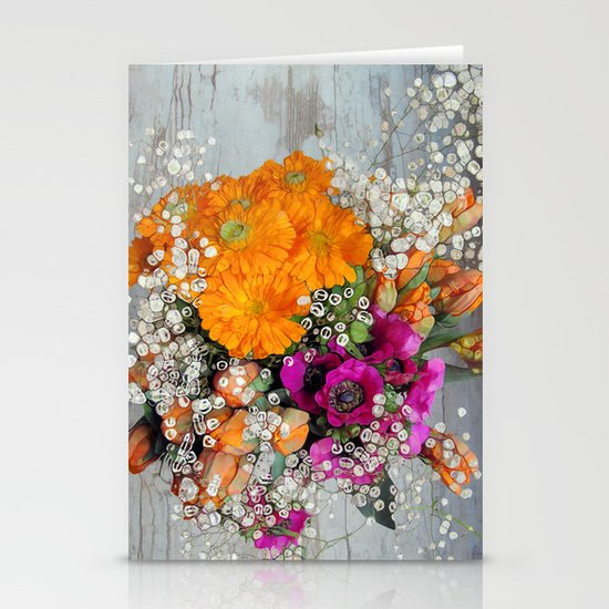 Funky Floral Stationery Cards