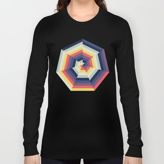 Heptagon Quilt 2 Long Sleeve T-shirt
