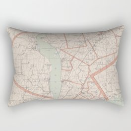 Vintage Map of Westchester County NY (1893) Rectangular Pillow