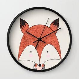 Cute Woodland Animal Fox Wall Clock