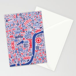 London City Map Poster Stationery Cards