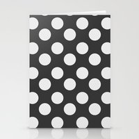 polka dots Stationery Cards featuring Polka Dots by Nobu Design