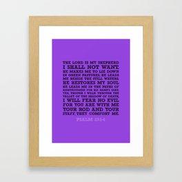 Psalm 23:1-4 Framed Art Print