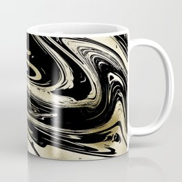 Chic modern abstract black gold stylish marble Coffee Mug