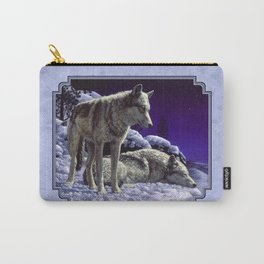 Night Watch Wolves in Snow Carry-All Pouch