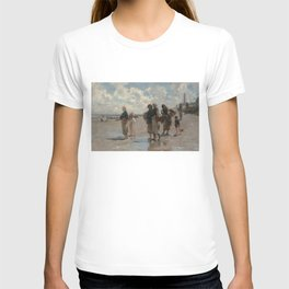 Fishing for Oysters at Cancale - John Sargent T-shirt