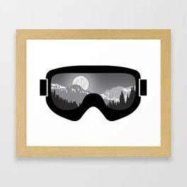 Moonrise Goggles - B+W - Black Frame   Goggle Designs   DopeyArt Framed Art Print