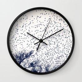 starling murmuration japan Wall Clock