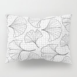 grid in black and petals Pillow Sham