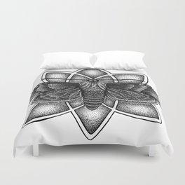 Moth Mandala Duvet Cover