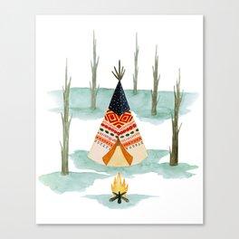 Wigwam Canvas Print
