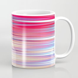 pink abstract with horizontal stripes Coffee Mug