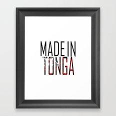 Made in Tonga Framed Art Print