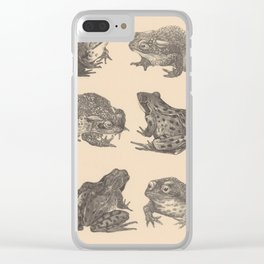 Naturalist Frogs Clear iPhone Case