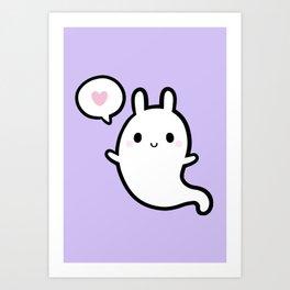 Cutie Bunny Ghost 02 Kunstdrucke