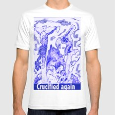 Crucified again MEDIUM Mens Fitted Tee White