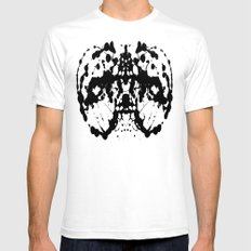 Ink Blot v4 SMALL White Mens Fitted Tee