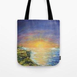 Gozo island, Malta. Malta sunset seascape Tote Bag