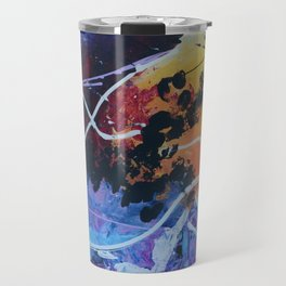 Harmony colourful  abstract artwork Travel Mug