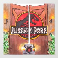 jurassic park Canvas Prints featuring Jurassic Park by Humble Dino