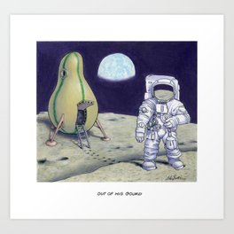 Out of His Gourd Art Print
