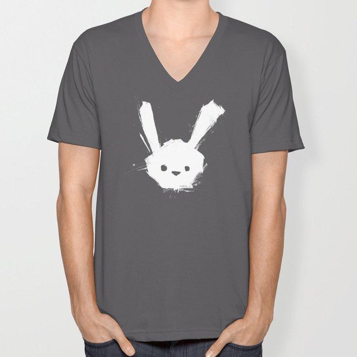 minima - splatter rabbit  Unisex V-Neck