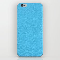 Blue leather texture iPhone & iPod Skin