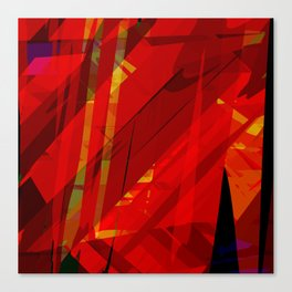 red spiky Canvas Print