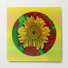 sun flowers for iconic pleasure in pumpkin time Metal Print