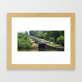 Caen Hill, Wiltshire, UK. Framed Art Print