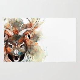 Deer- color brown Rug