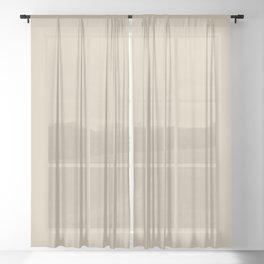 Mushroom Beige Solid Colour Sheer Curtain