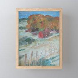 Little farm Framed Mini Art Print