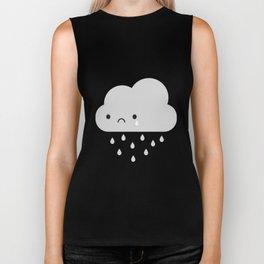 Sad Kawaii Rain Cloud Biker Tank