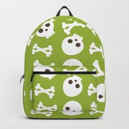 Happy halloween skulls and bones pattern Backpack