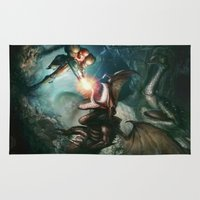 metroid Area & Throw Rugs featuring Metroid by ImmarArt