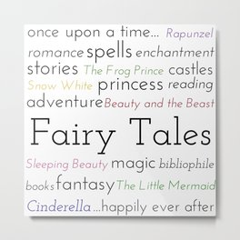 Classic Fairy Tales - Popular Fairy Tale Books Metal Print