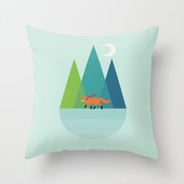 Walk Alone Throw Pillow