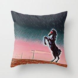 Blucifer Dusk Throw Pillow