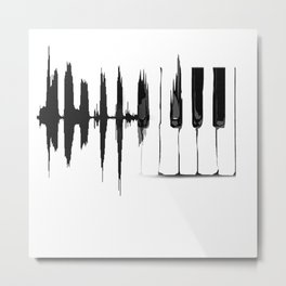 Piano Wave Metal Print