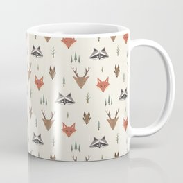 Minimalist Forest Animals Coffee Mug