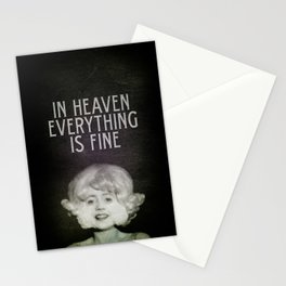 In Heaven Everything is Fine - Eraserhead Stationery Cards